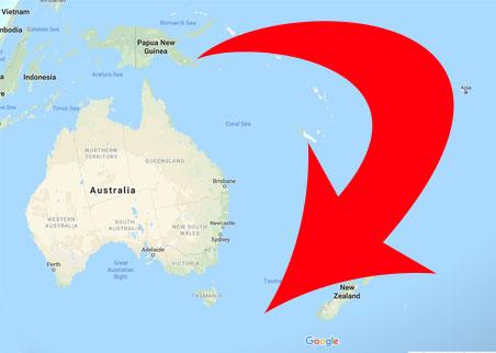 Curved arrow around Oceania