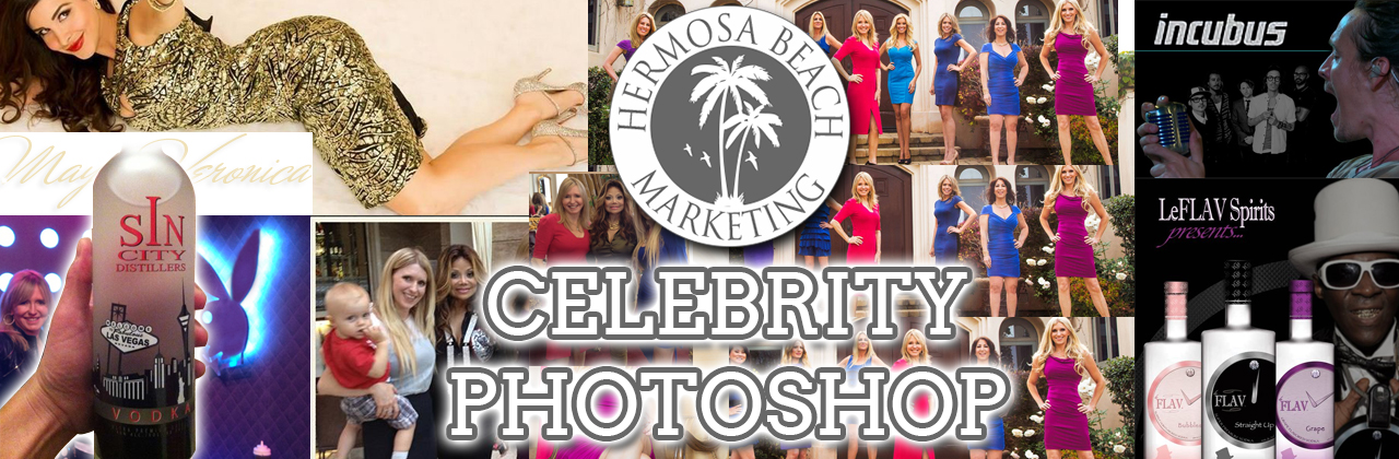 Red Carpet Celebrity Photoshop and Photo Editing Los Angeles Marketing Hermosa Beach Marketing