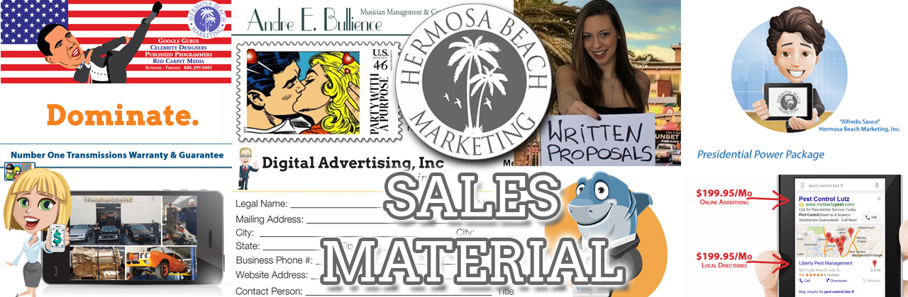 We Make Sales Material Los Angeles Marketing Hermosa Beach Marketing