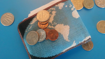 Ed Sparks Wallet Map of the World