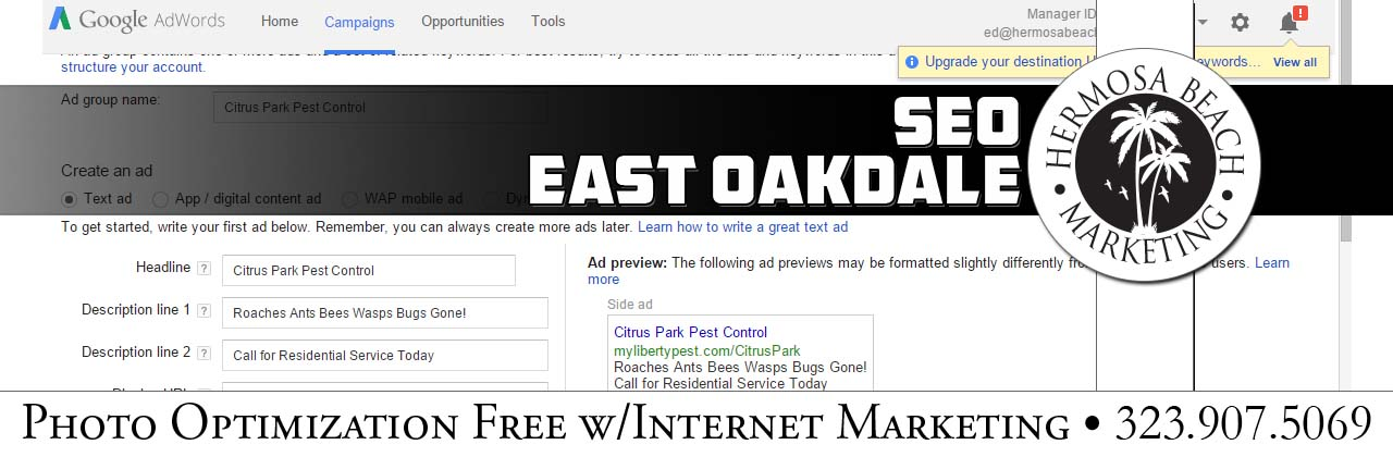 SEO Internet Marketing East Oakdale SEO Internet Marketing
