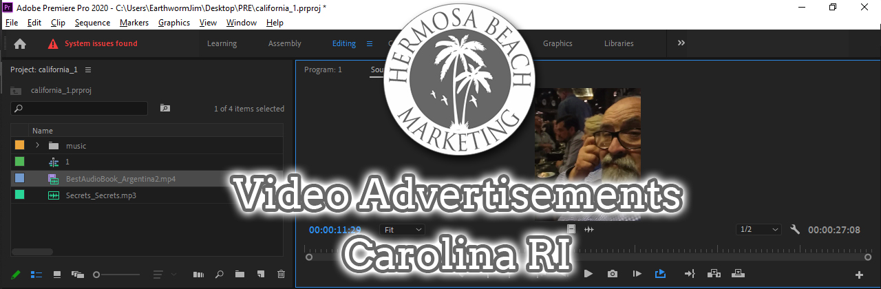 Video Editing Carolina RI Video Editing