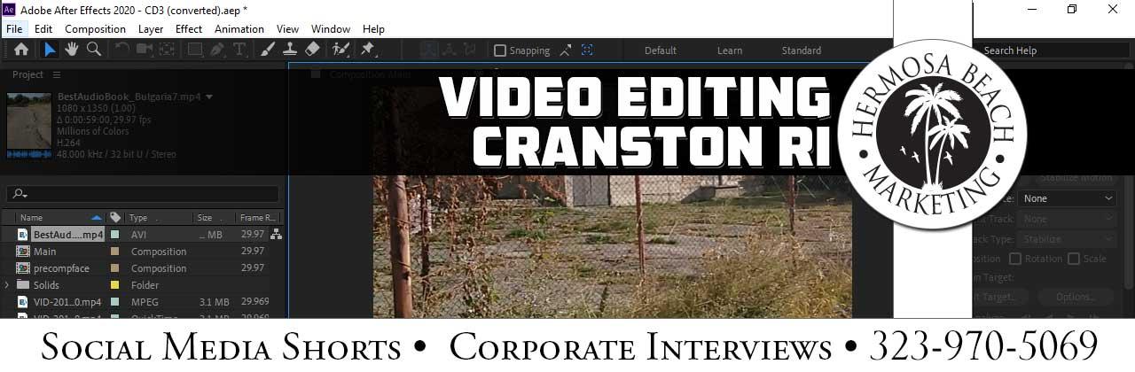 Video Editing Cranston RI Video Editing