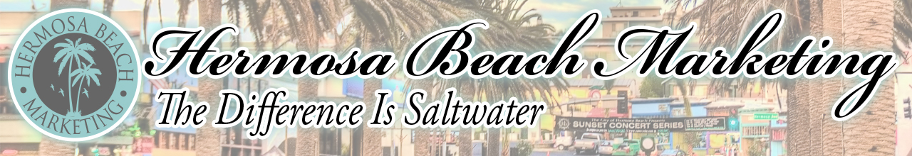 Logo and slogan Hermosa Beach Marketing The Difference is Saltwater